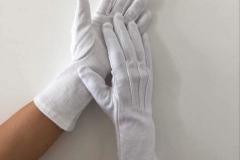White-cotton-sure-grip-gloves