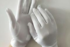 White-Polyester-Gloves